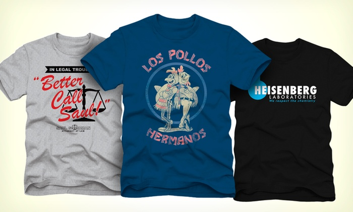 Breaking Bad T-Shirts: $12.99 for a Breaking Bad T-Shirt ($24.99 List Price). Multiple Designs Available. Free Returns.