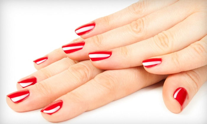 Luxe Salon and Spa - Bay Terrace: OPI Gel Manicure or Spa Mani-Pedi at Luxe Salon and Spa (Up to 59% Off)