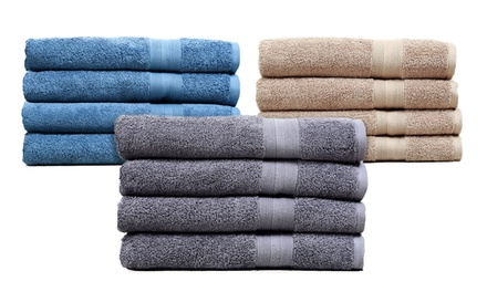 4-Piece 100% Egyptian Cotton Oversized Bath Towel Set