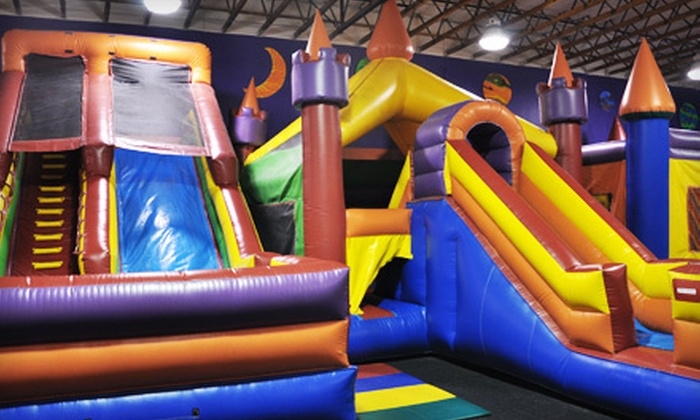 JJ Jump and JJ Extreme - Multiple Locations: Five Open Jump Sessions for Kids Aged 3–15 or 2 and Younger at JJ Jump and JJ Extreme (60% Off)