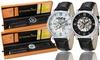 Stührling Original Men's Skeleton Watches: Stührling Original Men's Skeleton Watch in Black or Silver Tone. Free Returns.