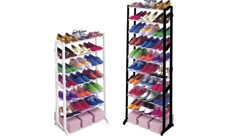 One or Two Seven- or Ten-Tier Shoe Racks