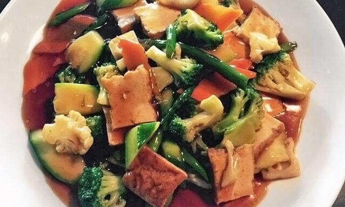Zhu Pan-Asian Vegan Restaurant - East Arlington: Pan-Asian Vegan Cuisine for Dinner at Zhu Pan-Asian Vegan Restaurant (Up to 40% Off)