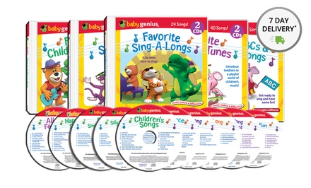 Baby Genius Children's Sing Along 10-CD Set. Free Returns.