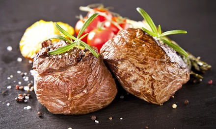 Chateaubriand Steak Meal to Share with Glass of Prosecco for Two or Four at Bo'Vine