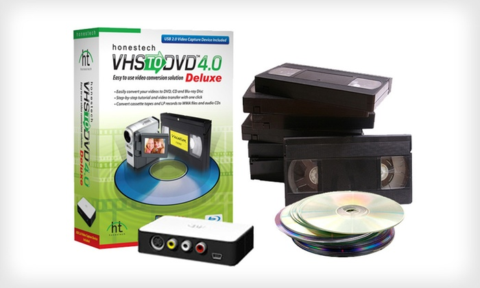 VHS to DVD/Blu-ray Conversion Software: $39 for a Honestech VHS to DVD 4.0 Deluxe ($79.99 List Price). Free Returns.
