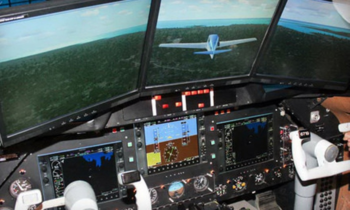 Flightmaster - York University Heights: One Hour in a Flight Simulator for Two or Up to Four at Flightmaster (Up to 76% Off)