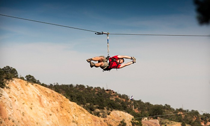 Adventures Out West - Manitou Springs: $42 for a Zipline Adventure from Adventures Out West ($85 Value)