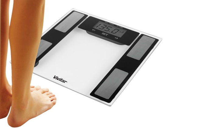 Vivitar Total Pro Body Fat Amp Fitness Digital Scale Groupon