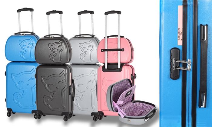 lollipops valise vanity rigide groupon shopping. Black Bedroom Furniture Sets. Home Design Ideas