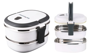1-, 2-, Or 3-tier Frigidaire Bento Lunch Boxes