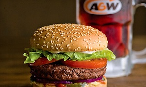 A&W of Rhode Island: American Cuisine and Drinks for Two or Four People at A&W of Rhode Island (Up to 40% Off). Two Options Available