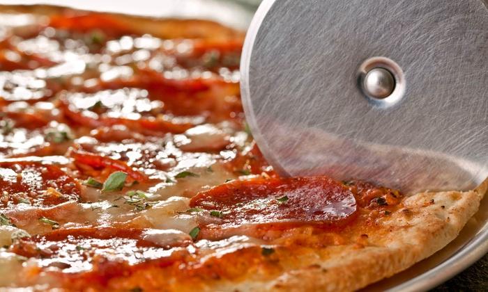MJ.M.D Pizza de Luigi Pizza - Chelsea: $17 for Two Large, One-Topping Pizzas at MJ.M.D Pizza de Luigi Pizza ($34.50 Value)