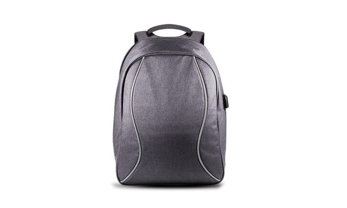 jusqu 39 54 sac dos antivol pour pc portable groupon. Black Bedroom Furniture Sets. Home Design Ideas