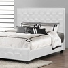 Riona Modern Bed with Upholstered Headboard
