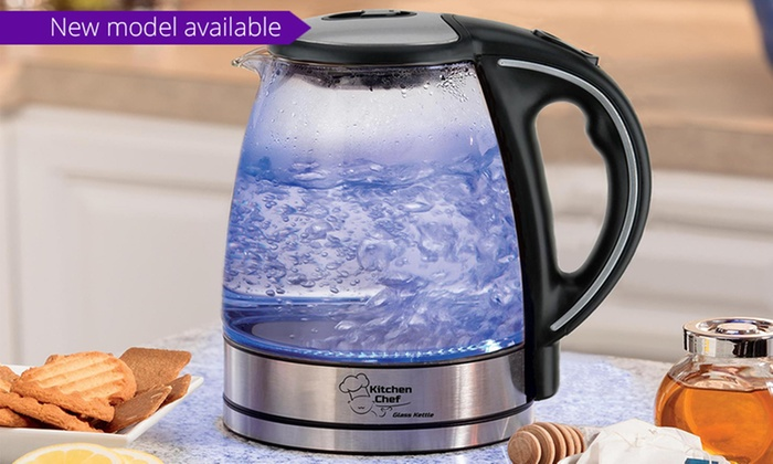 Groupon Goods: $34 for a Kitchen Chef Cordless Glass Kettle, or $59 with Touch Temperature Control Panel (Don't Pay Up to $199.95)