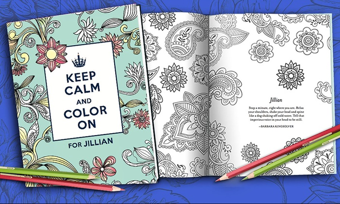 Put Me In The Story: Personalized Keep Calm and Color On Adult Coloring Book from Put Me In The Story
