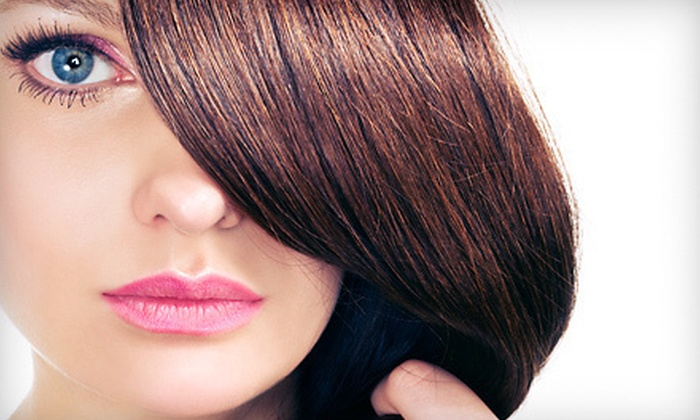 Curl Up & Dye Hair Salon - Douglas Byrd: Pravana Keratin Treatment with Optional Haircut at Curl Up & Dye Hair Salon in Fayetteville (Up to 64% Off)