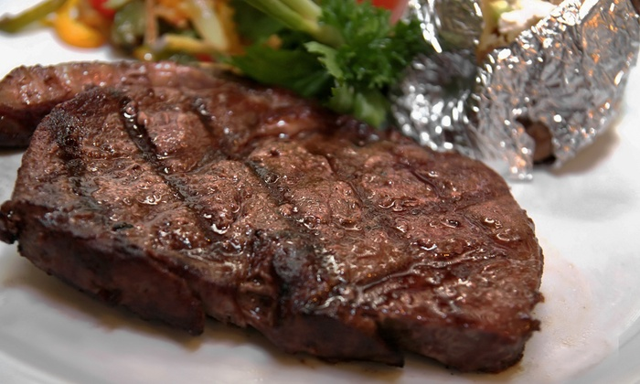 The Silver Flame Steakhouse - Tulsa: Kansas City Strip-Steak Dinner for Two, Four, or Six at The Silver Flame Steakhouse (Up to 46% Off)
