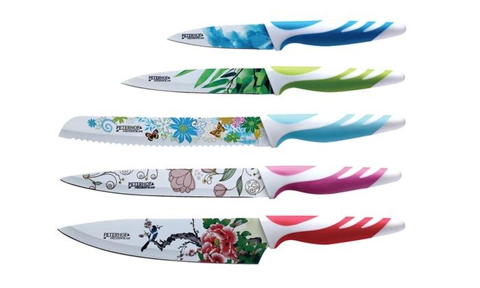 5 Piece Antibacterial Knife Set ...
