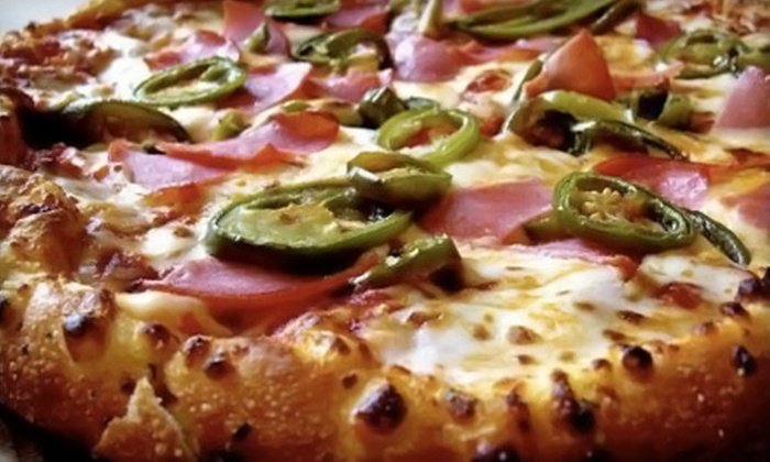 Domino's Pizza - Brockville: $17 for Two Large Three-Topping Pizzas at Domino's Pizza (Up to $36.14 Value)