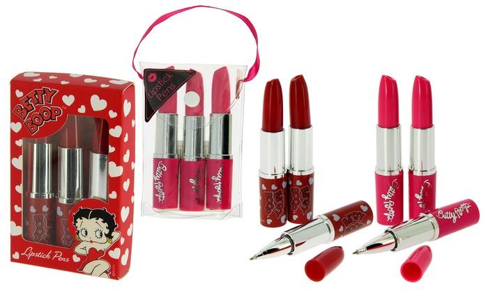 Betty Boop set of 6 Lipstick Pens