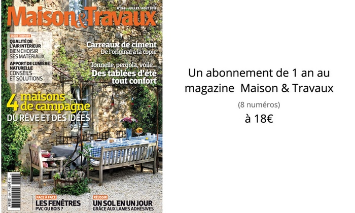 Abonnement magazine reworld media groupon for Maison francaise magazine abonnement
