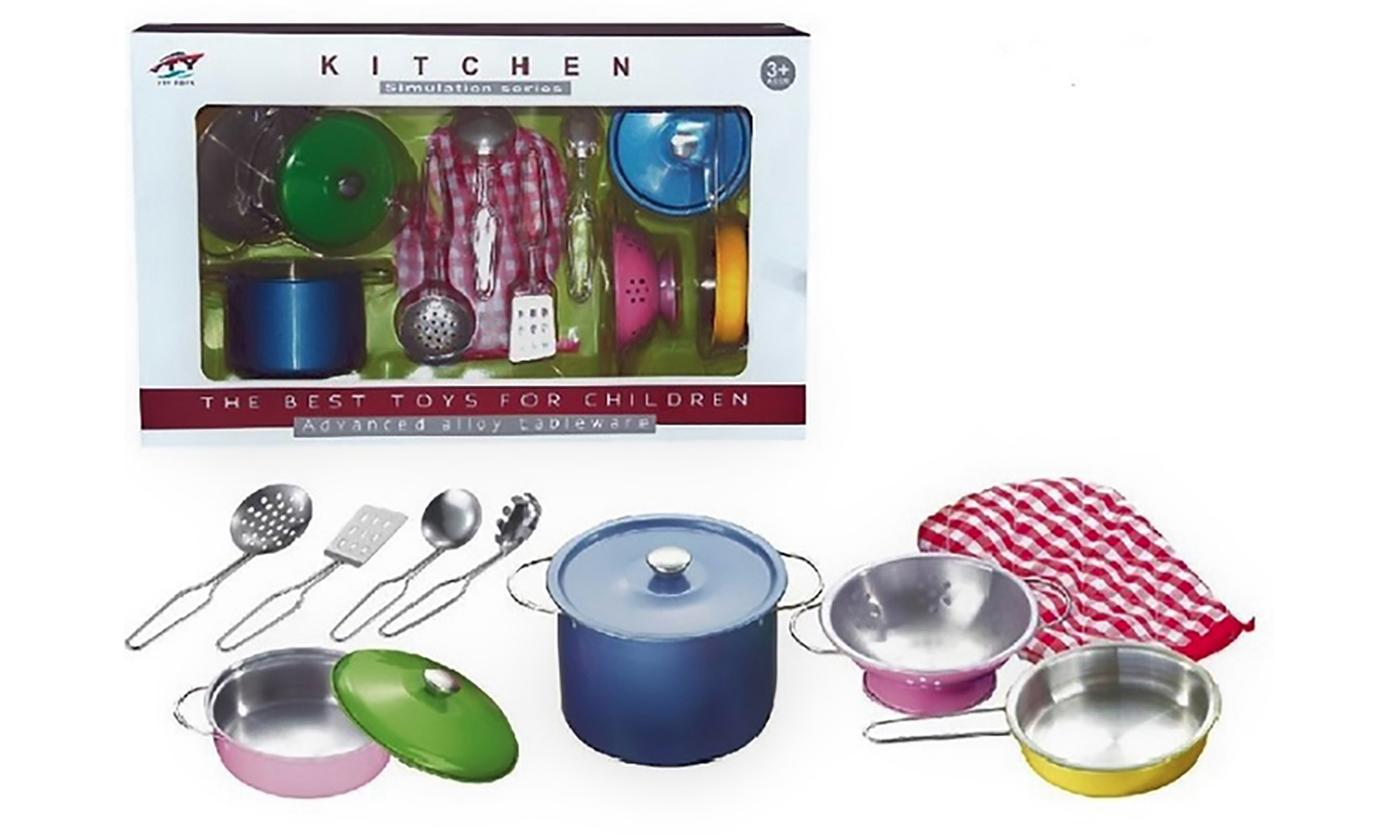 Kids' 8- or 11-Piece Metal Kitchen Utensils Playset