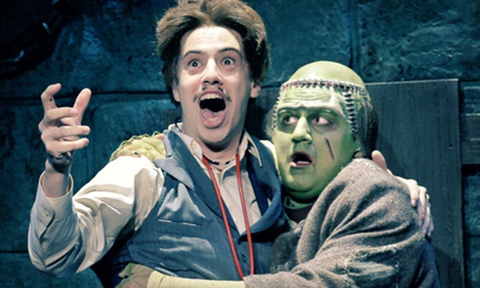 """""""Young Frankenstein The Musical"""" - Lafayette: One Ticket to See """"Young Frankenstein The Musical"""" in Lafayette on March 18 at 3 p.m. Two Options Available."""