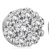 0.50 CTTW Diamond Cluster Stud Earrings in Solid 14K White Gold