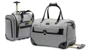 Nicole Miller Jolene Wheeled City Duffle Bag or Under-Seat Carry-On: Nicole Miller Jolene Wheeled City Duffle Bag or Under-Seat Carry-On Bag