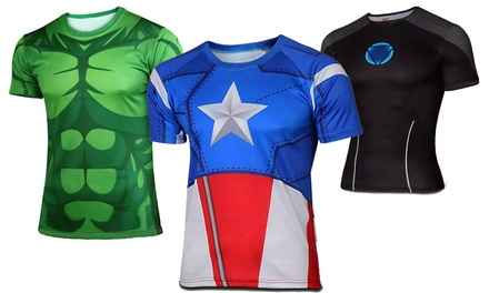 $19.90 for a Mens Superhero-Themed Sports T-Shirt (worth $45.90). 11 Designs