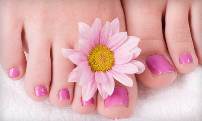 Divine Hair and Color Salon - Orland Hills: Spa Mani-Pedis with Reflexology for One or Two at Divine Hair and Color Salon (Up to 58% Off)