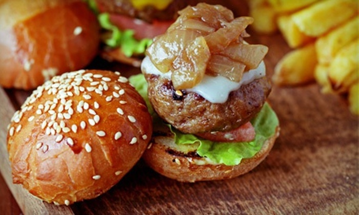 Trio Bar - Palos Heights: Burgers and Beer for Two or Four at Trio Bar (Up to 52% Off)