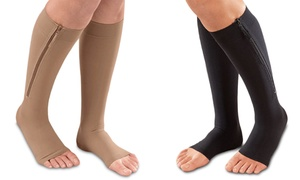Unisex Open Toe Zipper Compression Socks (1-Pair) at Unisex Open Toe Zipper Compression Socks, plus 6.0% Cash Back from Ebates.