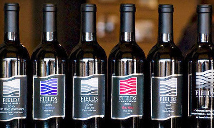 Fields Family Wines - Lodi: Wine Tastings and Bottles of Merlot for Two, Four, or Six at Fields Family Wines (Up to 52% Off)