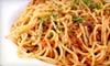 Pranzo Italiano - Clearfield: Pasta Entree for Two at Pranzo Italiano (40% Off)