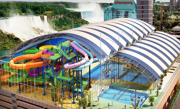 Skyline Inn Niagara Falls - Niagara Falls, Ontario: Stay with Mini Golf and Optional Water-Park Passes at Skyline Inn Niagara Falls in Niagara Falls, ON. Dates into July.