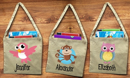 One, Two, or Three Personalized Library Tote Bags from Dinkleboo (Up to 58% Off)