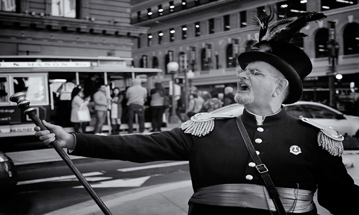 Emperor Norton's Time Machine - Multiple Locations: Historical or Waterfront Tour for 2, 4, 6, or 15 from Emperor Norton's Time Machine (Up to 74% Off)