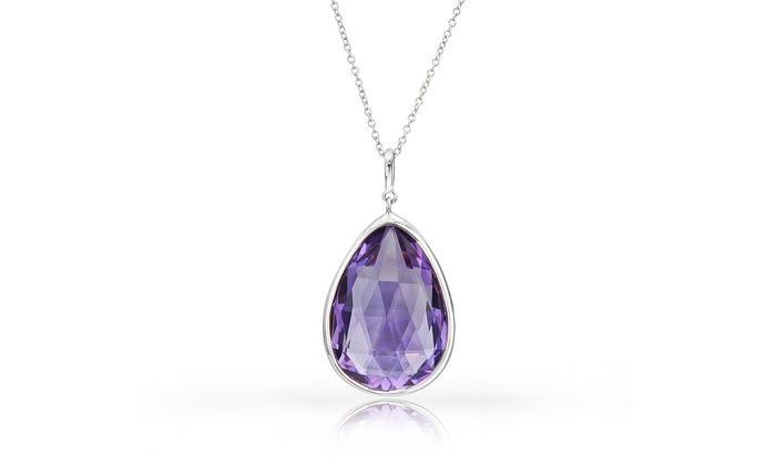 700 ctw amethyst pendant groupon goods 700 ctw genuine amethyst pendant in sterling silver aloadofball Images