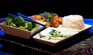 Fusion Bistro: Wine and Bento Boxes for Two or Four at Fusion Bistro (Up to 54% Off)