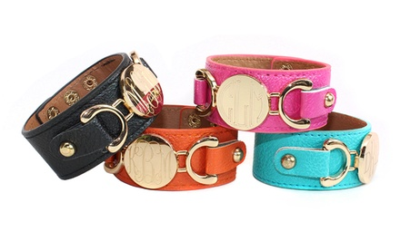Monogrammed Leather Cuffs from Allyanna Gifts (Up to 62% Off)