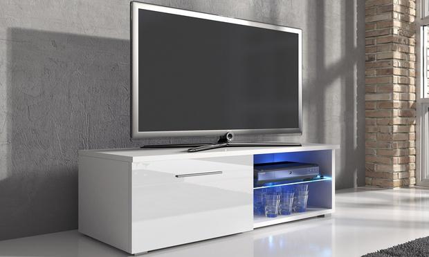 samuel tv cabinet with led groupon goods. Black Bedroom Furniture Sets. Home Design Ideas
