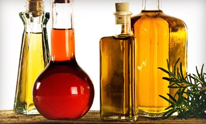 The Olive Store - Multiple Locations: Extra-Virgin Olive Oil and Balsamic Vinegar Bundle or a Natural Haircare Package at The Olive Store (Up to 52% Off)