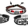 Men's Leather Bracelets with Metal Accents
