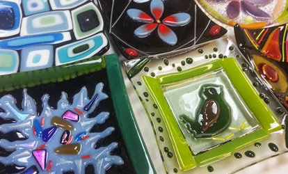 Introduction to Glass Fusing Class for One, Two, or Four at The Fused In Glass Club (Up to 52% Off)