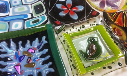 Introduction to Glass Fusing Class for One, Two, or Four at The Fused In Glass Club (Up to 56% Off)