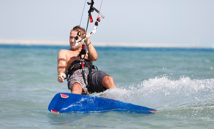 groupon daily deal - Two-Hour Basic Kiteboarding Course & One-Hour Riding Lesson for 1 or 2 from Aerial Kiteboarding (Up to 68% Off)