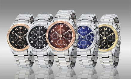 SO & CO Men's Stainless Steel Multifunction Dress Watch Collection